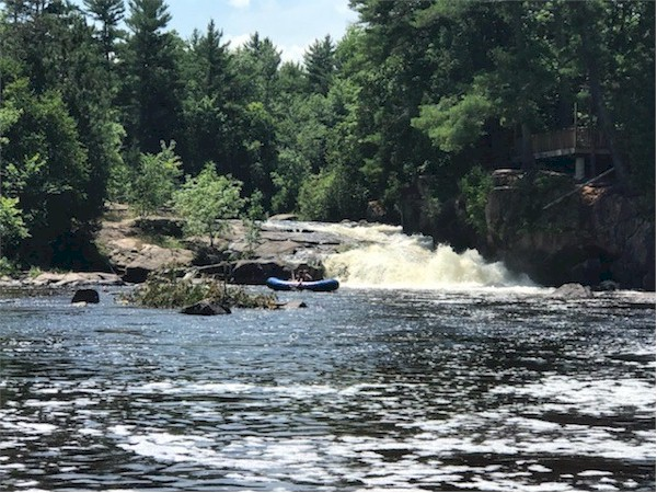 The wolf river rapids are a fun feature of the rafting trip